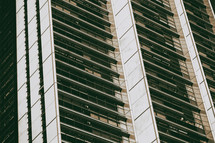 window terraces on a tall building