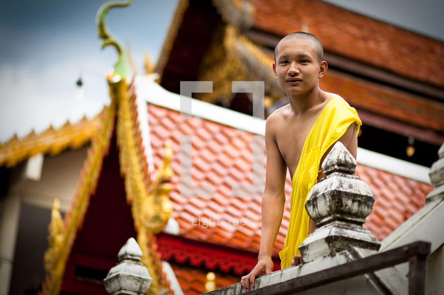 Buddhist monk at Temple