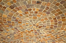 circular mosaic tile pattern background