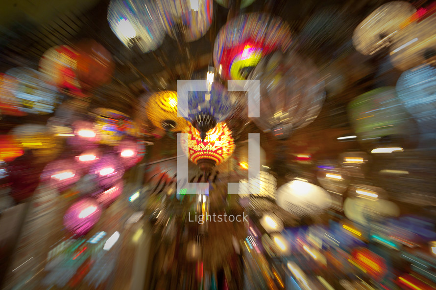 Decorative lights at the famous Grand Bazaar Istanbul