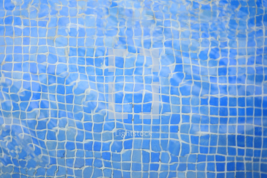 distorted tiles in a pool