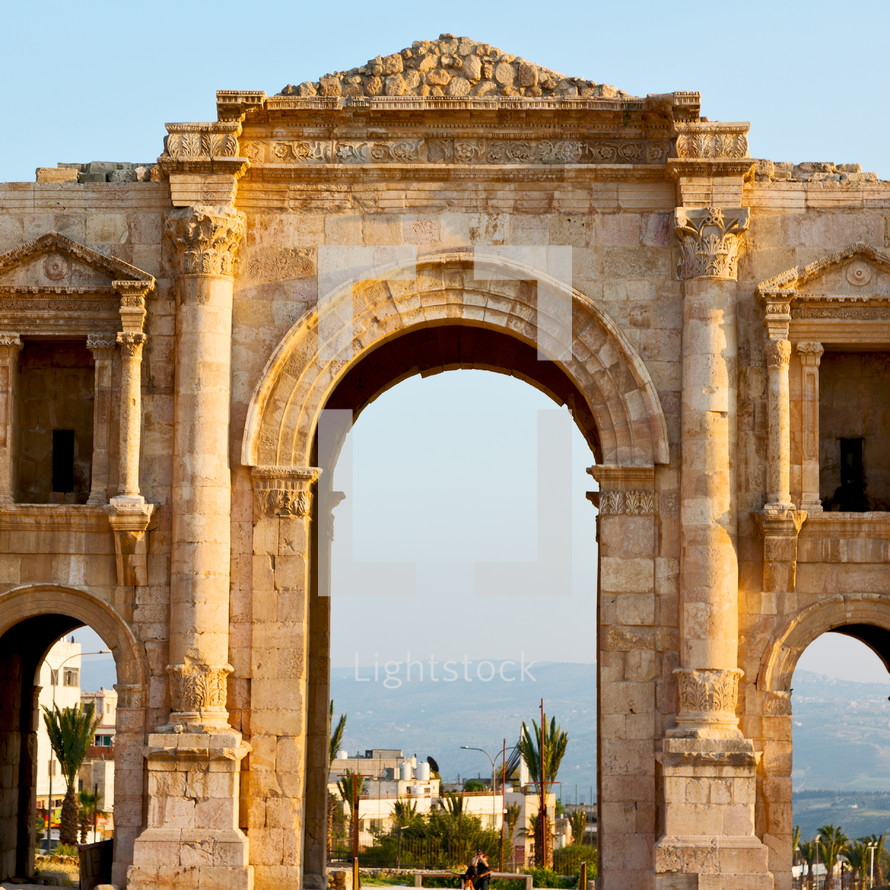 ruins at an historic site in Jordan