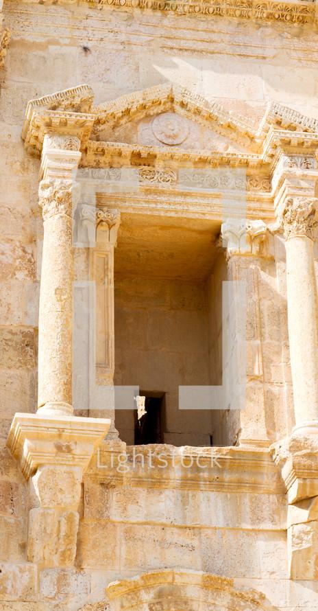 ruins in the land of Jordan