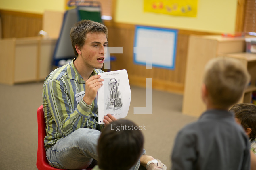 man leading a children's ministry
