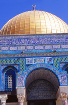 Gold dome on the Dome of the rock