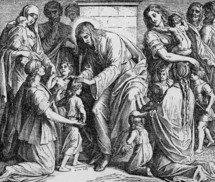 Jesus receives the children, Matthew 19: 13-15