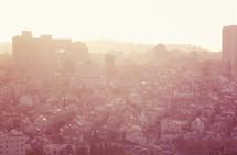 Jerusalem skyline at dawn.