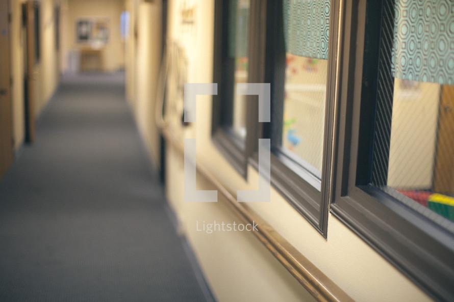 windows to the church nursery