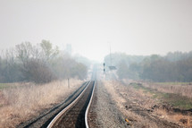 Railroad track in the country.
