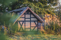 straw roof cottage