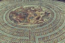 tile mosaic floor in Cyprus
