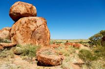 Rocks of devils marble in Australia