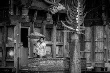 a mother and infant in Toraja