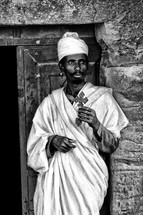 the celebration of lalibela africa old priest