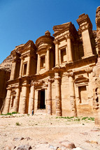 the antique site of petra in jordan the monastery