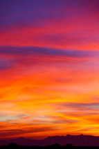 vibrant sky at sunset in the Philippines