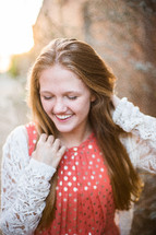 a teen girl's senior portrait