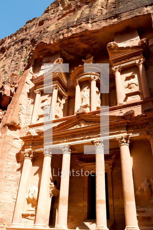 ancient monastery in Petra, Jordan