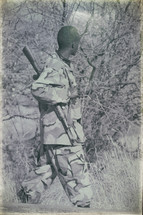 soldier with his gun