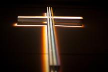 light behind a cross