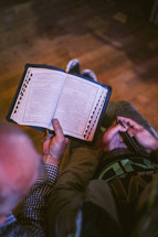 reading at a Bible study