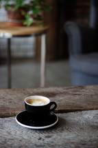 Cappuccino at Cafe