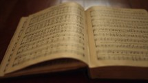 pages of an old hymnal