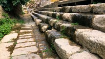 These are the stairs to the pool of Siloam. The pool where Jesus performed the miracle for the blind man in John 9.