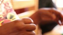 sewing hands in Uganda