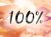 percentage 100%