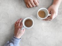 sharing coffee