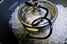 Beer keg in ice