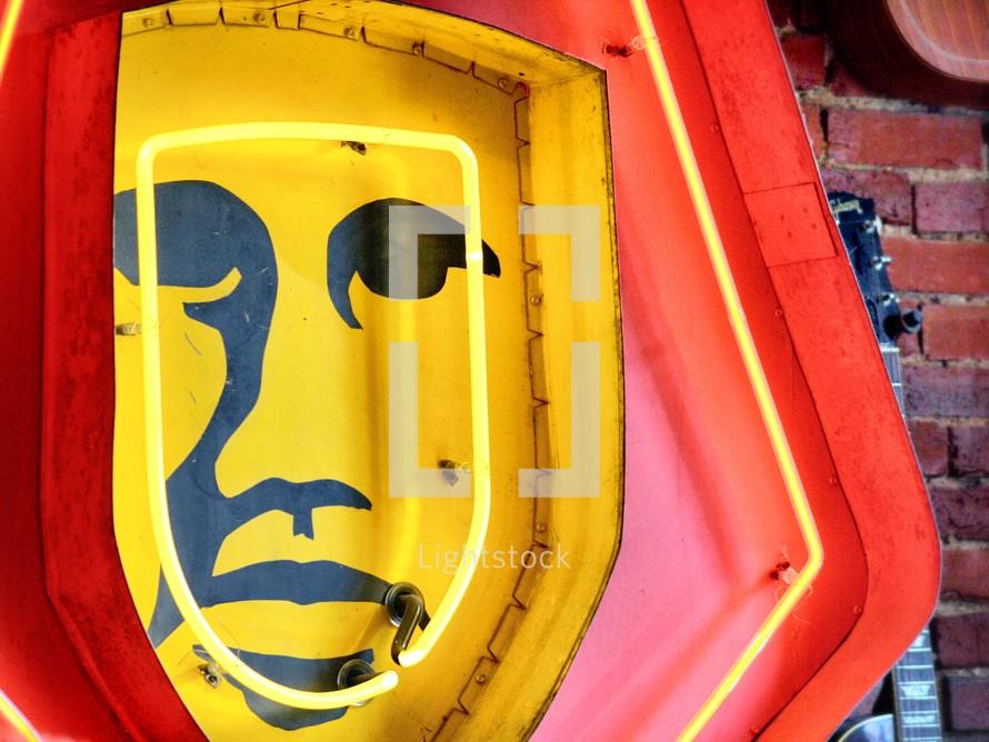 Neon face sign