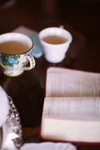 Bible and tea cup