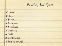 fruit of the spirit checklist