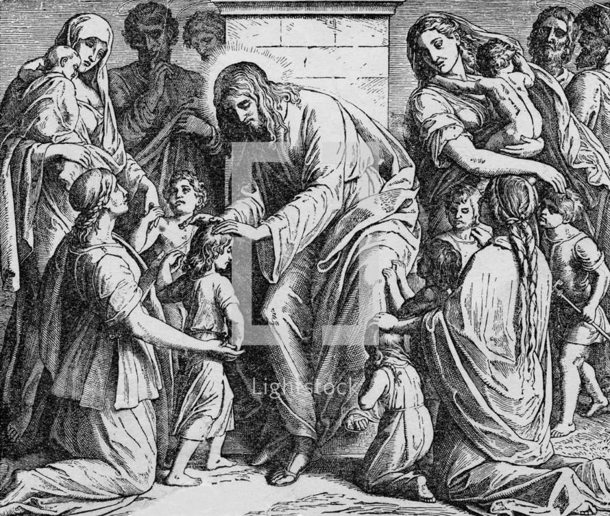 Jesus receives the children, Matthew 19: 13-15