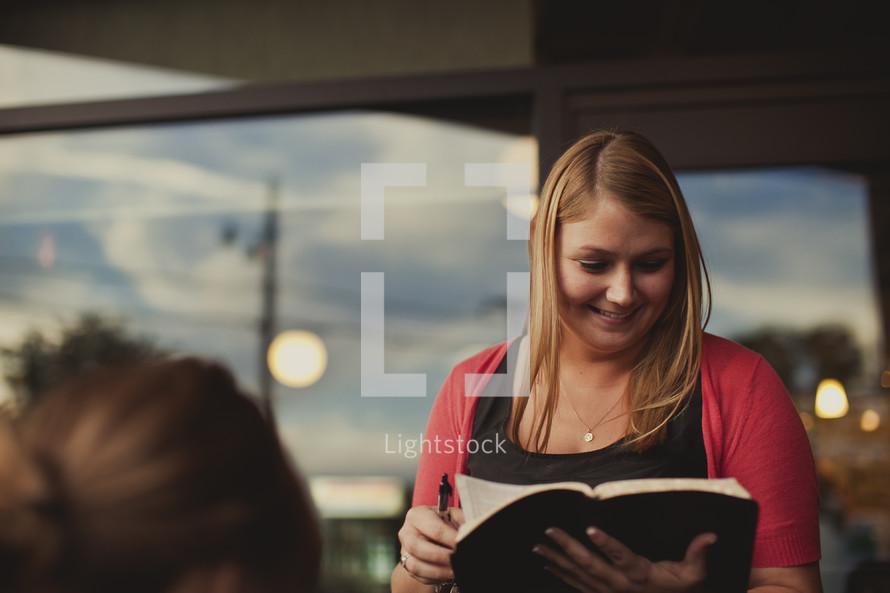 Women teaching Bible