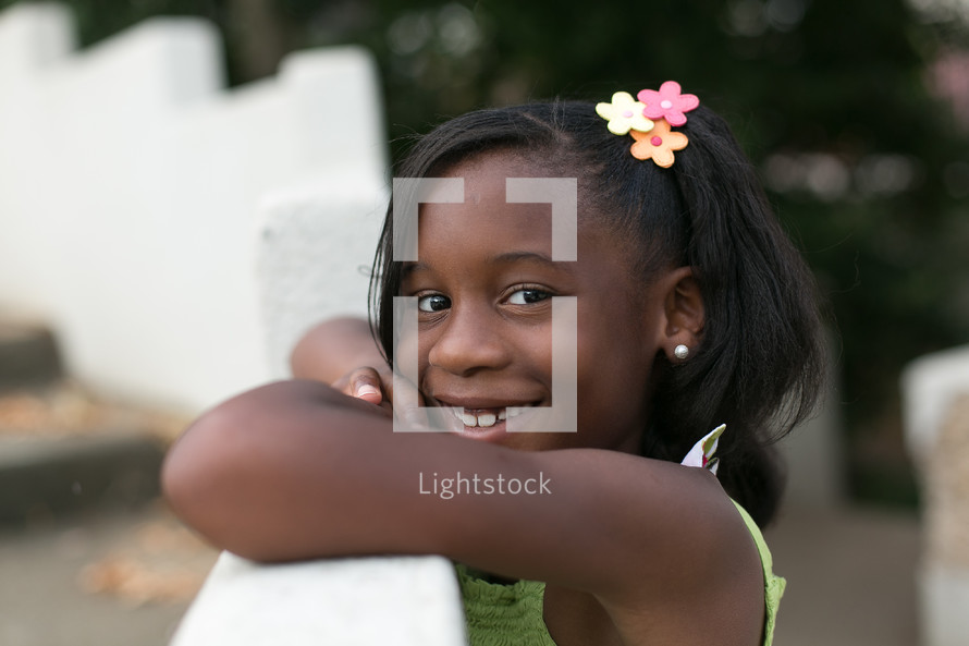 A young smiling girl