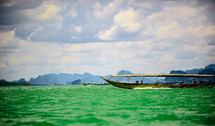 boat on green water