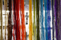 rainbow of colorful ribbons