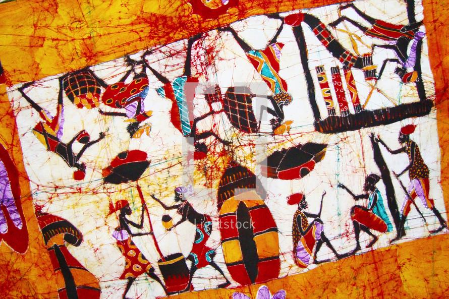 An African batik