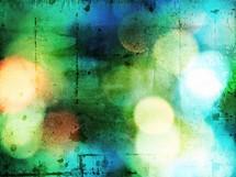 grungy, blue, green, bokeh, background, art, artwork