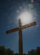 sunburst above a cross