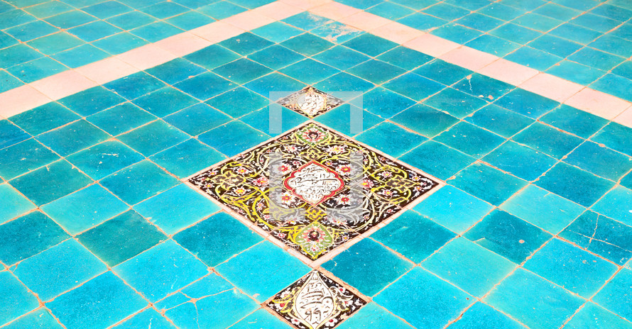 tiles on a floor in Iran