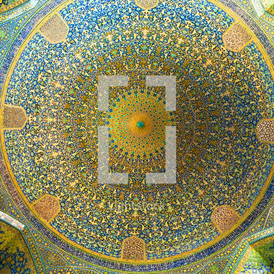 interior painting on a dome