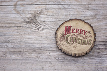 Merry Christmas on wood