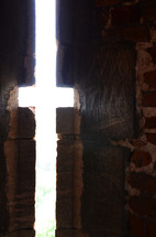 cross, castle, window, light