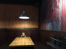 empty booth at a restaurant