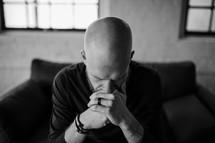 a man in prayer