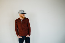 portrait of a man in a ball cap
